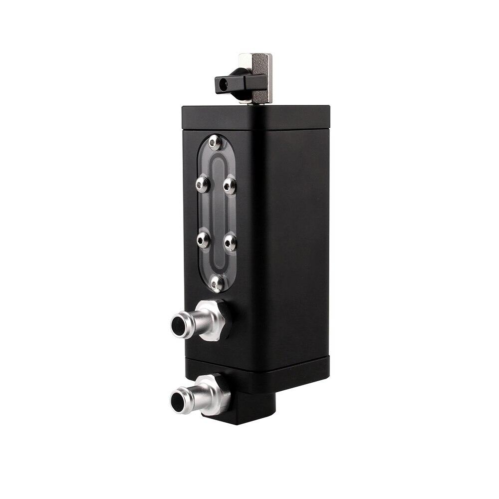 Fabrication déflecteur huile attraper aluminium bidon réservoir d'huile 2 ports noir universel
