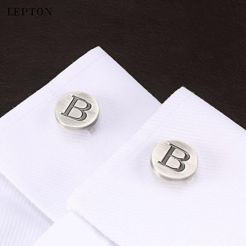 Купить запонки lepton в с буквами алфавита для мужчин классические