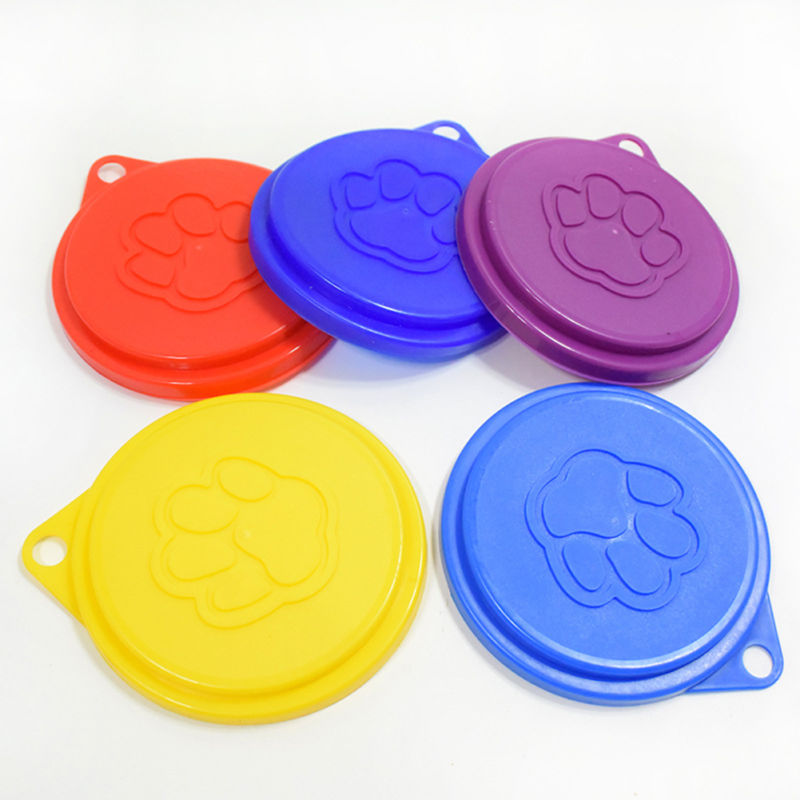 5pcs Tin Lids Dog Cat Pet Food Can Covers Standard Sized Help To Keep The Remaining Food Fresh Bowel Seal Lid Plastic Dog Bowl