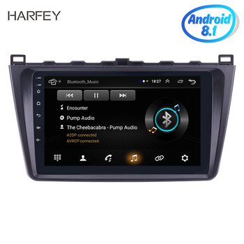 Harfey 9 Inch Android 8.1 2DIN Car Radio For Mazda 6 Rui wing 2008 2009 2010-2014 car Multimedia Player GPS Navigation Head Unit image