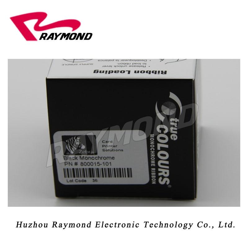 800015-101 Black Monochrome Ribbon for Zebra P330i P420i P430i Card Printers,