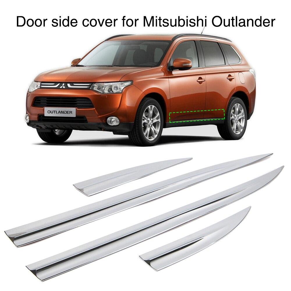 Car Door Body Side Line Cover For Mitsubishi Outlander 2014 2015 Exterior Chrome Molding Trim Guard