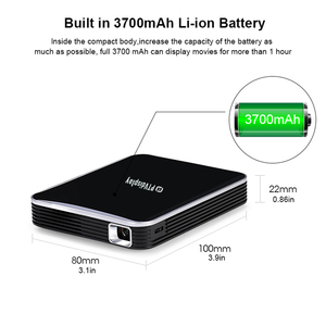 Image 2 - סופר זול 200ansi חכם טלפון מיני מקרן עם סוללה, Wired אותו מסך LED DLP מולטימדיה מקרן, וידאו משחק Proyector