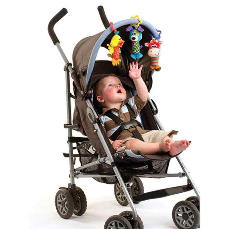 Sevimli Bebek Arabası Asılı Ses Oyuncaklar Bebek Çıngıraklar Oyuncak El Çan Bebek El Kavrama Doldurulmuş Hayvanlar peluş oyuncaklar Doğum Günü Gif