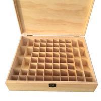 68 Grid Wooden Essential Oil Box Wooden Essential Oil Storage Box Solid Wood Gift Box Multi Square Essential Oil Box
