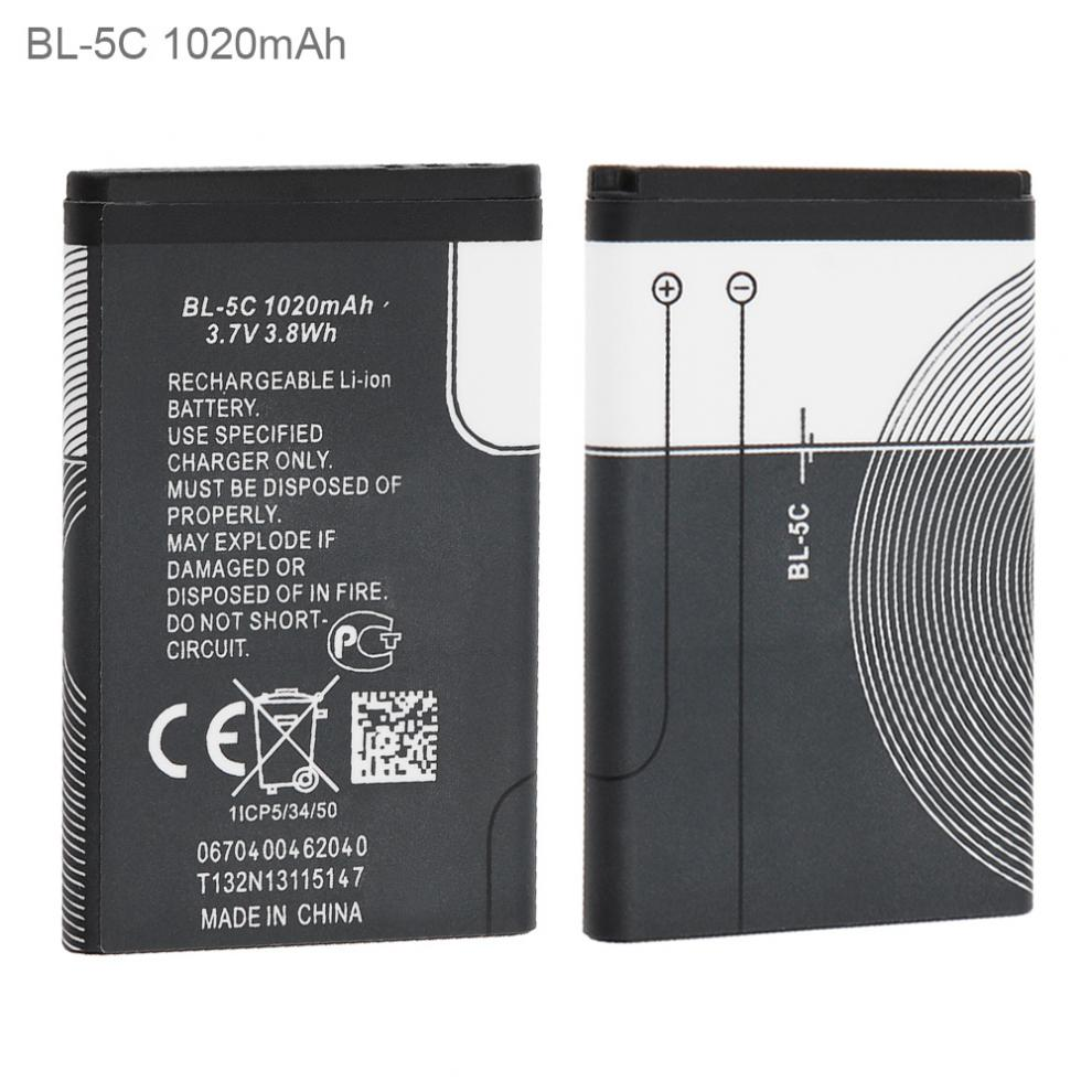 BL-5C <font><b>3.7V</b></font> <font><b>600mAh</b></font> Phone Built-in Li-ion Replacement <font><b>Battery</b></font> with <font><b>Battery</b></font> Cells PTC Protection for Nokia 3100 N70 N72 N91 5130 image