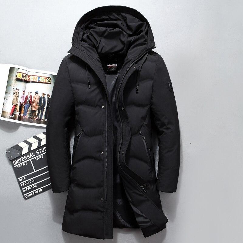 Veste Survêtement Mode Coupe Arrivée Black amp; D'hiver Nouvelle Down Casual De 4xl Vestes vent Et Hiver Manteau Hommes Noir Long Épais U0xtF
