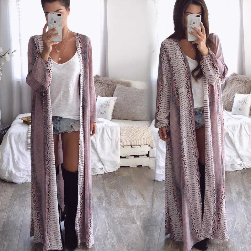 Long Cardigan Women Blouse Summer Boho Full Sleeve Floral Printed Long Kimono Beach Cover ups Casual Loose Blouse Shirts 2019