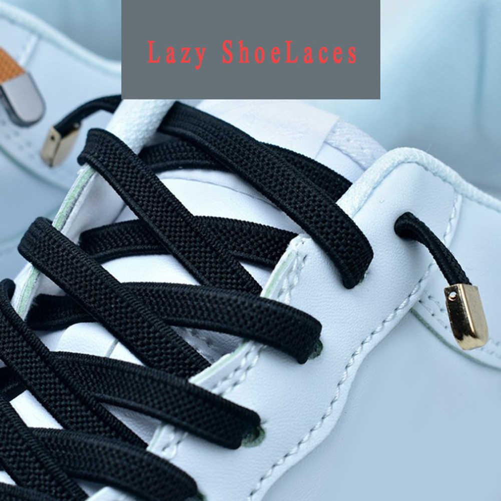 ใหม่แฟชั่นขี้เกียจไม่มี Tie shoelaces และ Easy รองเท้าผ้าใบเชือกผูกรองเท้าผู้หญิงผู้ชายรองเท้าเดียวรองเท้า Laces ความยาว 105 ซม.