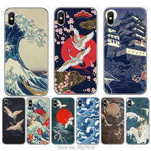 Case For Google Pixel XL2 XL3 3A 4 4 XL 2 3 Back Cover Cartoon Wave Art Japanese Soft TPU Silicone CellPhone Case(China)
