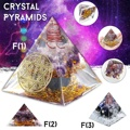 5.5-6.5cm orgonite melhorar a ajuda da fortuna torre de negócios energia natural cristal orgone pirâmide decoração processo resina presente sorte