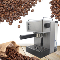 Gustino 1050W Pump Type Semi Automatic Coffee Maker Stainless Steel Steam Nozzle Espresso Machine 150ml Boiler 2.2L Water Tank