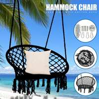 Nordic Style Round Hammock Swing Chair Furniture for Outdoor Indoor Dormitory Bedroom Hanging Swing Bed with Install Tools