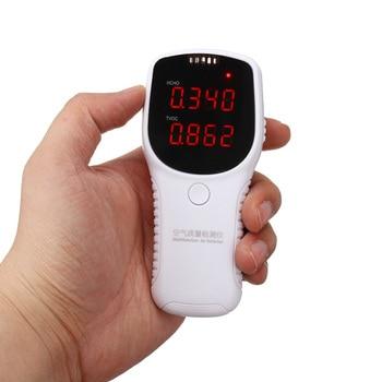 Digital formaldehyde detector hcho tvoc tester pm2.5 detector portable air quality monitor gas analyzer indoor outdoor