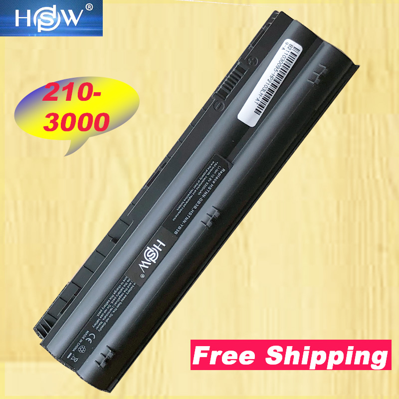 HSW New 6 Cells laptop battery HSTNN DB3B HSTNN LB3B MT03 MT06 MTO3 MTO6 For HP Mini 210 3000 2103 2104 1104 3115m series-in Laptop Batteries from Computer & Office