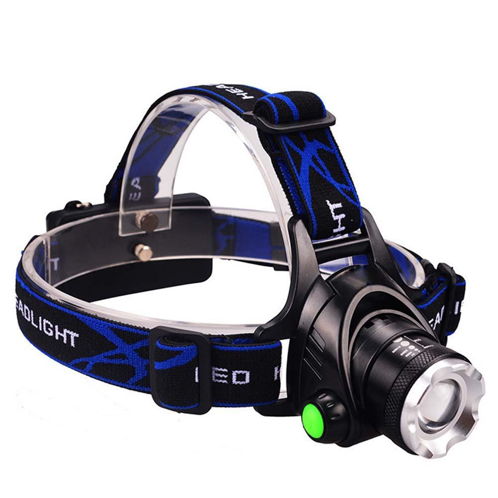 Rechargeable 12000Lm Zoomable LED Headlight Headlamp With Charger T6 18650 3 Switch Mode Waterproof Torch