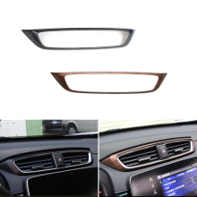 Car Styling Center Console Air Conditioning Air Outlet Vent Frame Cover Protective Trim For Honda CR-V CRV 2017 2018