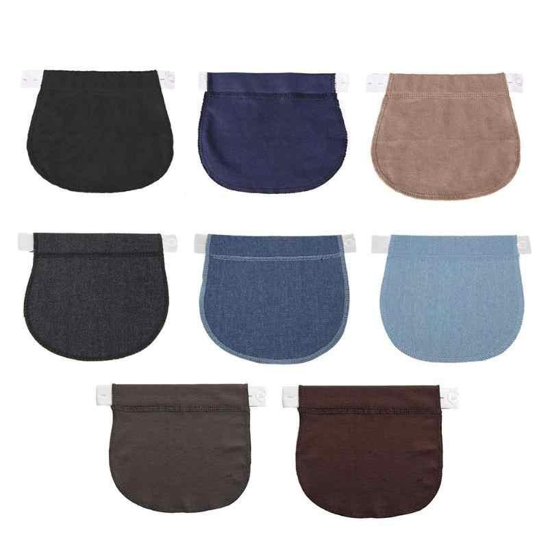 Для беременных и матерей после родов пояс Мягкий регулируемый эластичный Брюки удлинение талии Кнопка расширения мать свободные брюки пояс