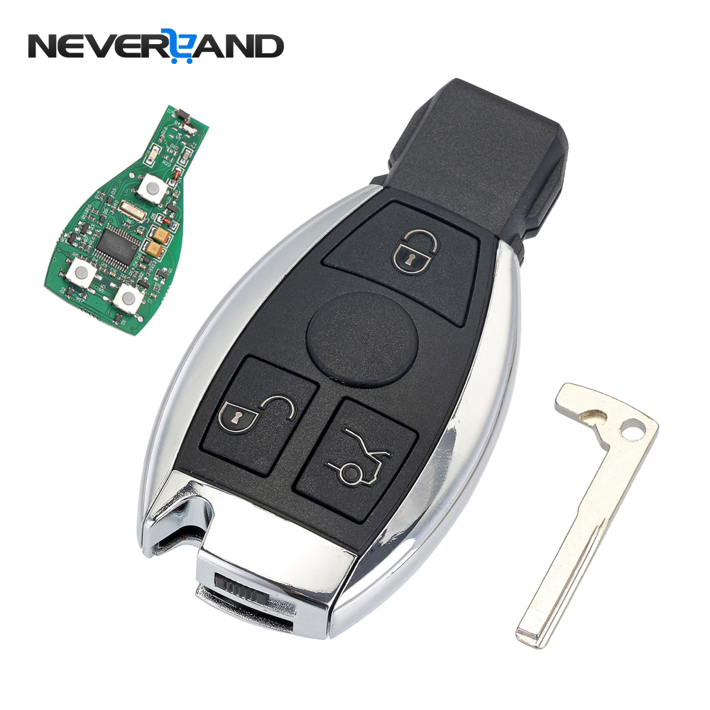 3 Buttons Remote Car Key Shell Key Replacement For Mercedes Benz year 2000+ NEC&BGA Control 433MHz(China)
