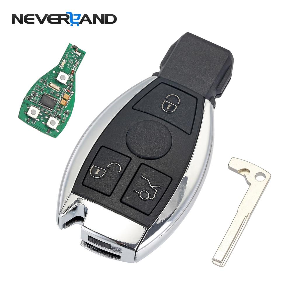 3 botões do Controle Remoto Chave Shell de Substituição Chave Do Carro Para Mercedes Benz ano 2000 + NEC BGA & Controle 433 mhz