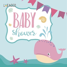 цена Laeacco Cartoon Dolphin Backdrop Baby Show Portrait Photography Backgrounds Customized Photographic Backdrops For Photo Studio
