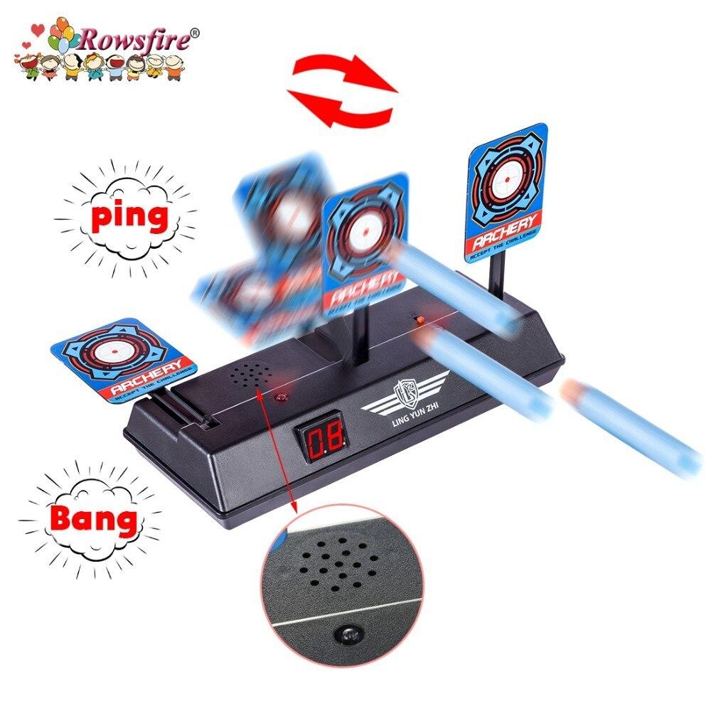De alta precisión de puntuación Reset Auto eléctrico objetivo Nerf juguetes LZ034 para Nerf Blaster perlas de Gel Blaster pistola de juguete partes
