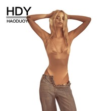 HDY Haoduoyi Femme Women Shorts Top Bodycon Sexy Stripper Lace Bodysuit Costumes Transparent Overall Jumpsuit