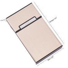 1PC Smoking Cigarettes Aluminum Cigarette Case Cigar Tobacco Holder Pocket Box Storage Container Gift Box Hot Sale(China)