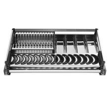 Cuisine Accessories Cestas Para Organizar Dish Rack Organizador Pantry Stainless Steel Organizer Cocina Kitchen Cabinet Basket