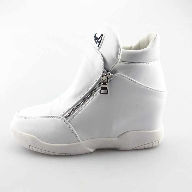 f6190f018 ... VIGOR FRESHNESS Women Platform White Sneakers Warm Fur Shoes Woman  Winter Ankle Boots Height Increasing Shoes ...