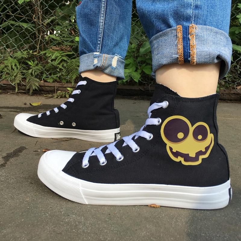 Ткань Хэллоуин Тыква Лампа Студенческая обувь код 46 Оптовая продажа-MAM