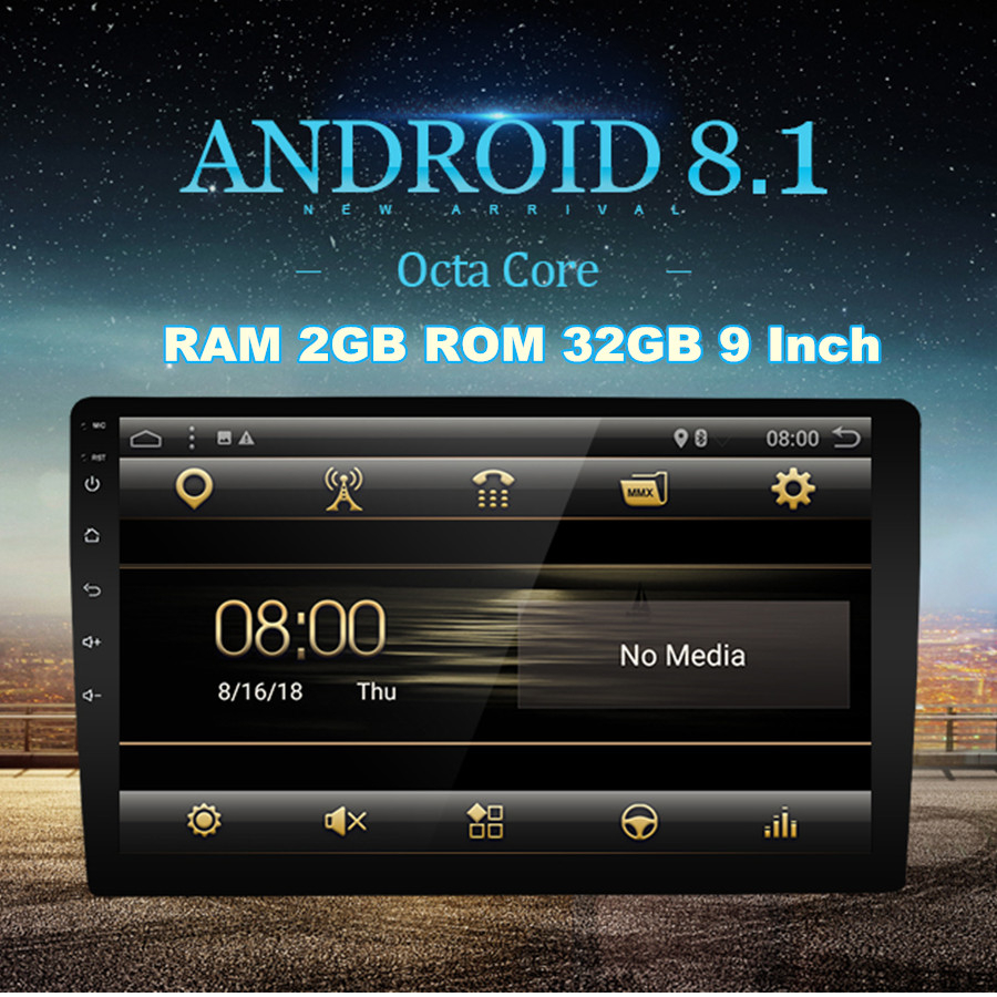 Universal 9 Android 8 1 system 2DIN Touch Screen 2GB RAM 32GB ROM GPS Wifi 3G