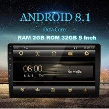 """Universale 9 """"Android 8.1 sistema di 2DIN Touch Screen 2 GB di RAM 32 GB di ROM GPS Wifi 3G 4G BT DAB Specchio Link Car Stereo Radio OBD"""