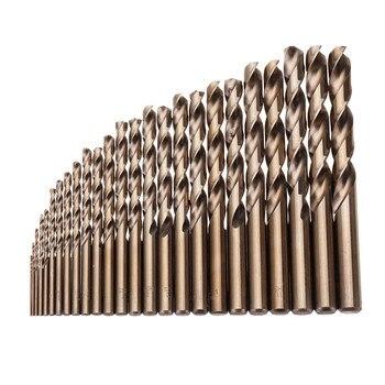 25 قطعة 1-13 مللي متر HSS M35 الكوبالت تويست مثقاب مجموعة لحفر الخشب المعادن