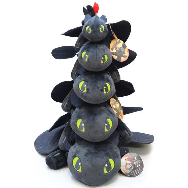 25 cm-46 centímetros Bonito 3 Desdentado Toy Plush Anime Como Treinar O Seu Dragão Fúria Da Noite Desdentado Pelúcia stuffed Toy Boneca para Crianças Presente