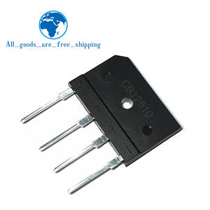 5pcs 25A 1000V diode bridge rectifier gbj2510 ZIP In Stock