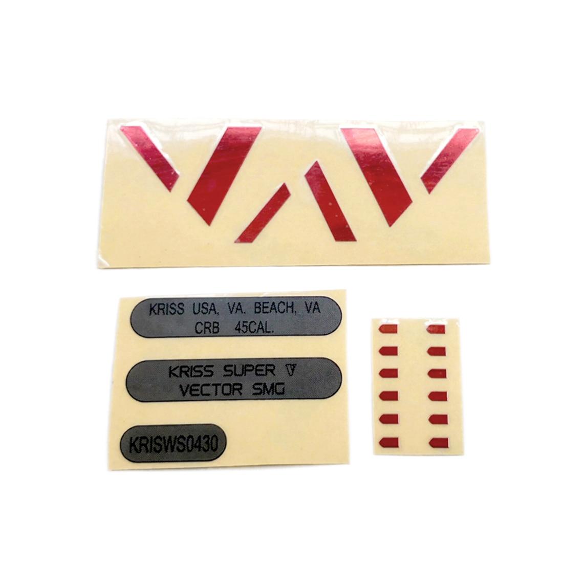 MODIKER For LH Vector Gen.2 Water Gel Beads Blaster Body Red V + Black Numbering + Speed Machine Metal Sticker Modification