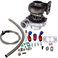 T70 T3 75 TRIM .70 A/R V BAND STAGE III 500+HP TURBO CHARGER+OIL FEED+DRAIN LINE T04Z T66 GT35 T4 twin scroll flange .82 a/r .