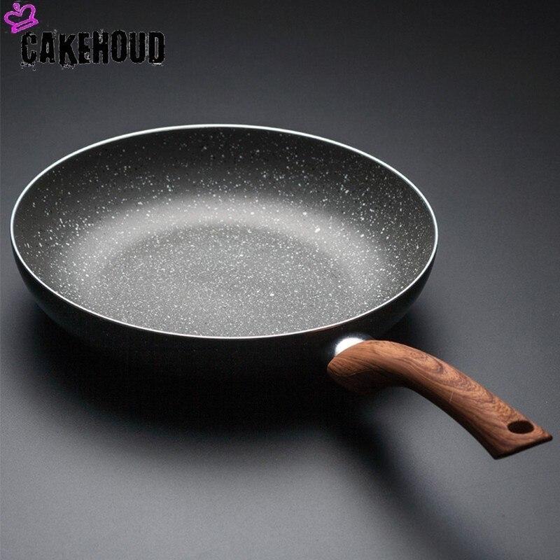 CAKEHOUD 28cm Maifan Stone Non-stick Frying Pan Household Steak Omelette Pan Pancake Pot Induction Cooker Gas Application