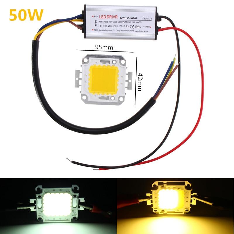 High Power LED Driver Supply AC85-265V 50W Waterproof White Warm White SMD Chip For Flood Light LED Light Bar Ceiling Light Buld