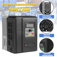CNC Spindle motor speed control 380V 2.2KW VFD Variable Frequency Drive VFD 3 Phase frequency inverter For Motor NEW