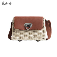 Women Autumn Personality Straw Bags Ins Popular Female Fashion Weave Shoulder Bag Winter Ladies Casual Hollow Cover Bolsa Ss3441