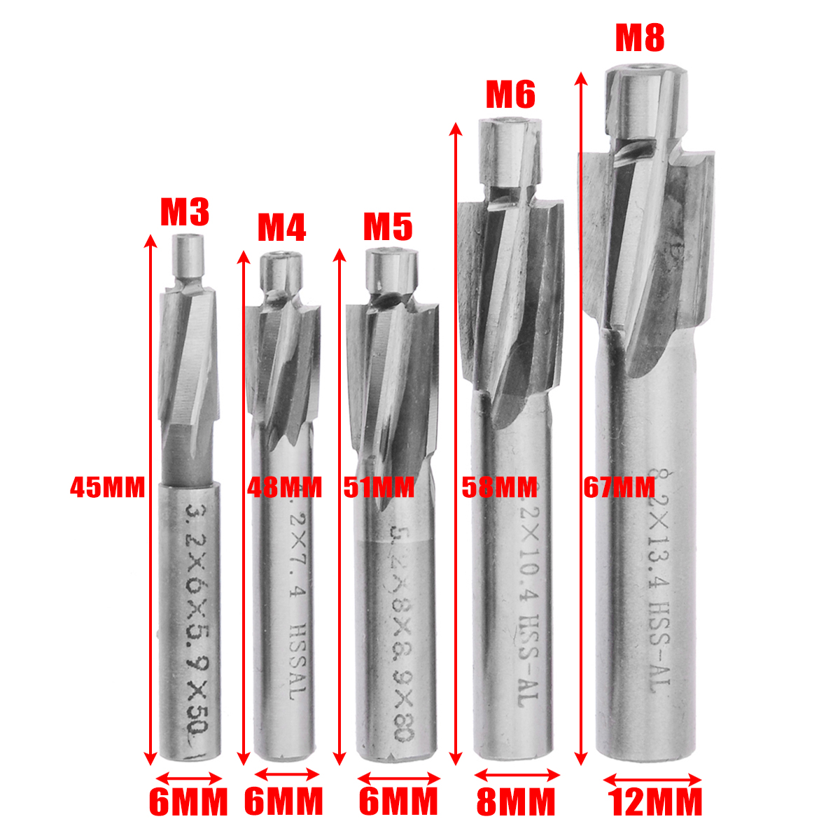 1//2-20 Size Plug Type High-Speed Steel Morse Cutting Tools 82861 Maintenance Series Spiral Point Taps Bright Finish 3 Flutes H3 Pitch Diameter