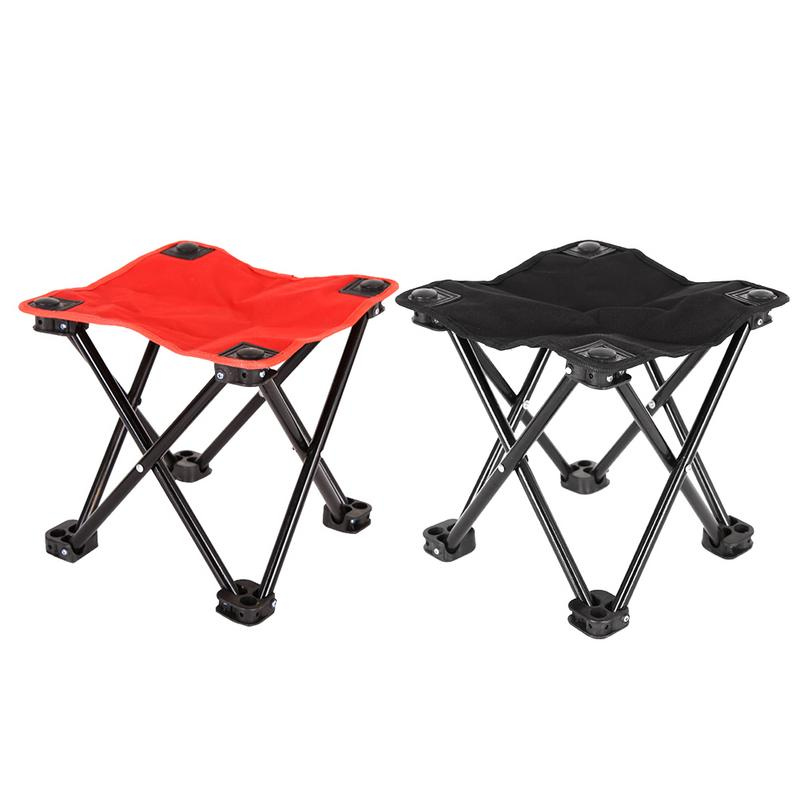 Superb Us 11 87 38 Off Outdoor Black Red Folding Chair Folding Portable Camping Chair Mini Portable Hiking 600D Oxford Bench Stool Fishing Seat Packet In Bralicious Painted Fabric Chair Ideas Braliciousco