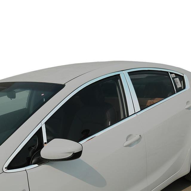 Automovil Auto Window Exterior Fashion Protecter Car Styling Parts Decoration Sticker Strip Accessories 16 17 FOR Kia K3