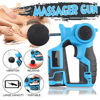 6 files Electronic Massage Gun Therapy Body High Frequency Vibrating Massage Gun Body Relaxing Relief Pains