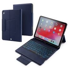 For iPad Pro 11 Inch 2018 Case Wireless Bluetooth Keyboard with Colors Backlight Stand Flip PU Leather Case For iPad Pro 11 2018 led backlight wireless bluetooth keyboard pu leather cover case stand holder for apple ipad pro 12 9 qjy99