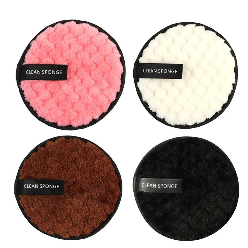 1PC Reusable Cotton Pads Make up Facial Remover Washable Wipe Pads Nail Art Cleaning Pads Soft Plush Face Washing Sponge
