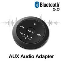 Новый AUX Bluetooth 5,0 беспроводной аудио приемник музыкальный адаптер мм 3,5 мм разъем USB поддержка светодио дный FM LED Handsfree AUX динамик беспроводной ...