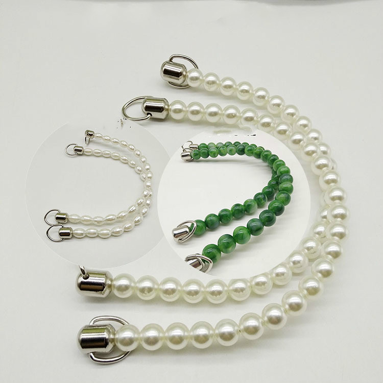 74e046b33d4d Cheap Cuentas de mano de doble Color melón semilla perla bolso de mano  accesorios Obag mango